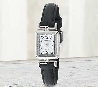 Carriage by Timex Women's Rectangular Watch w/Black Strap $9.49 thestylecure.com