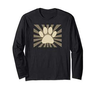 83a29500826c Sepia Dog Paw Print Manga Style Long Sleeve T-Shirt