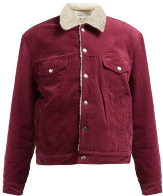 Re/Done Originals Re/done Originals - Oversized Corduroy Trucker Jacket - Womens - Burgundy