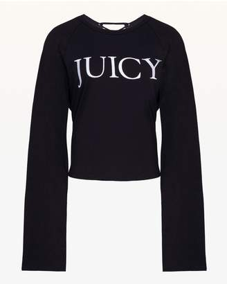 Juicy Couture Lace Up Long Sleeve Tee
