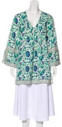 Calypso V-Neck Linen Tunic