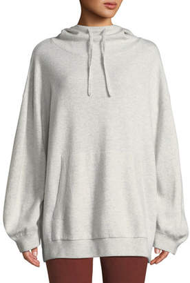 Vince Double-Layer Oversized Cashmere Hoodie