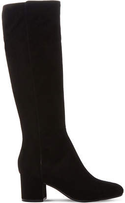 Dune Black Salisbury suede knee-high boots