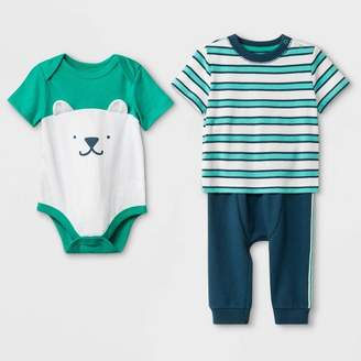 5aa52ca9c7ad Cat & Jack Baby Boys' T-Shirt , Bodysuit and Bottom Set Blue/
