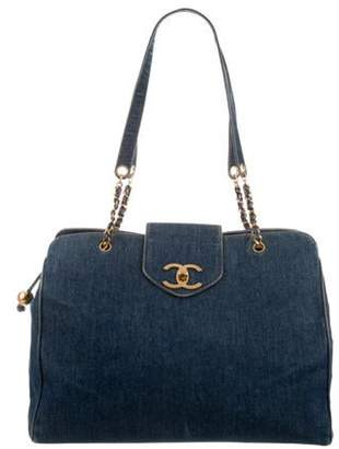 Chanel Denim Supermodel Tote blue Denim Supermodel Tote