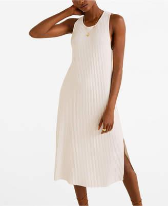 MANGO Ribbed Midi Dress
