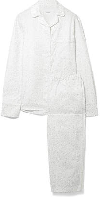 Three J NYC Printed Cotton-flannel Pajama Set - White