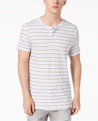 Calvin Klein Jeans Men's Striped Henley T-Shirt