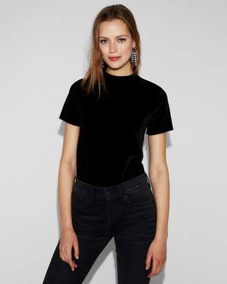 Express Velvet Mock Neck Tee