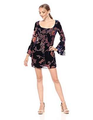 LIKELY Women's Mariella Velvet Burnout Bell Sleeve Dress