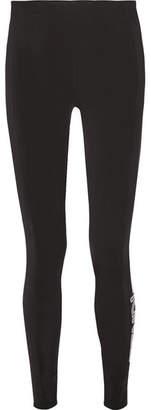 Fendi Printed Tech-jersey Ski Leggings - Black