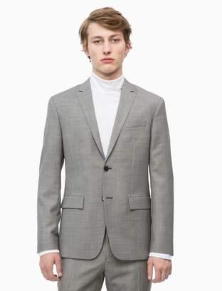 Calvin Klein slim fit virgin wool birdseye blazer