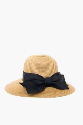 Toucan Hats Black Packable Wide Bow Sunhat