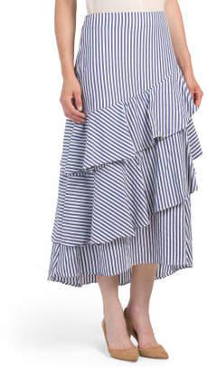 Asymmetrical Ruffle Tiered Skirt