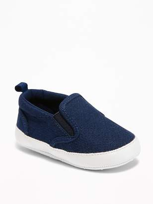 Old Navy Sueded Perforated Slip-Ons for Baby