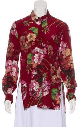 Gucci Blooms Silk Blouse