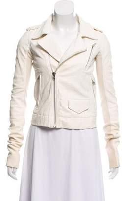 Rick Owens Asymmetrical Leather Jacket
