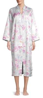 Miss Elaine Floral Kimono Zip Nightgown