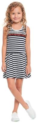 Truly Me Glitter and Stripes Skater Dress
