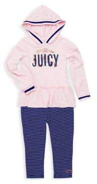 Juicy Couture Little Girl's Two-Piece Hoodie & Leggings Set
