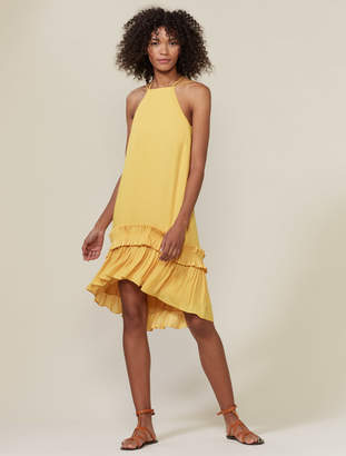 Halston Sleeveless Hi-Low Hem Dress