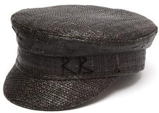 Ruslan Baginskiy Straw Baker Boy Cap - Womens - Black