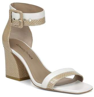 Donald J Pliner Women's Watson Color-Block Leather Block Heel Sandals