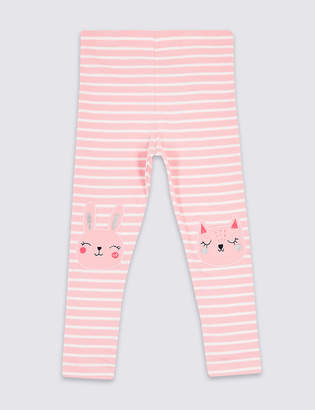 Marks and Spencer Cotton Leggings with Stretch (3 Months - 7 Years)