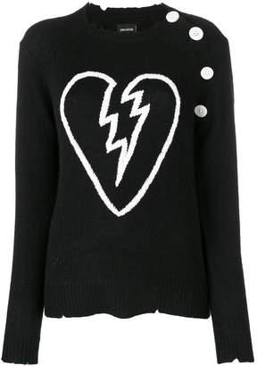 Zadig & Voltaire Zadig&Voltaire broken heart intarsia jumper