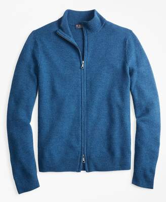 Brooks Brothers Honeycomb Stitch Full-Zip Cardigan
