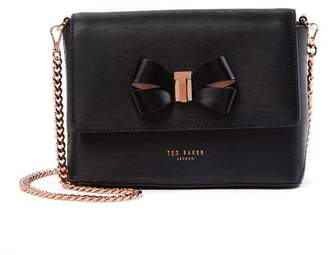 Ted Baker Bowii Bow Mini Bark Leather Crossbody Bag