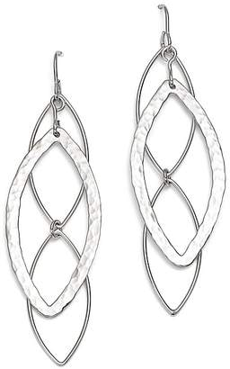 Bloomingdale's Sterling Silver Hammered Marquise Drop Earrings - 100% Exclusive