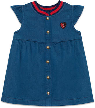 Baby denim dress with heart $290 thestylecure.com