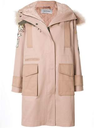 Valentino embroidered parka