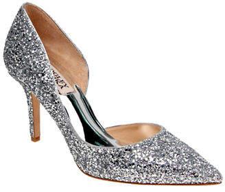 Badgley Mischka Daisy Glitter Pointed Toe Heels