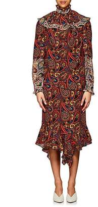 J.W.Anderson Women's Paisley Crepe Layered Dress - Paisley