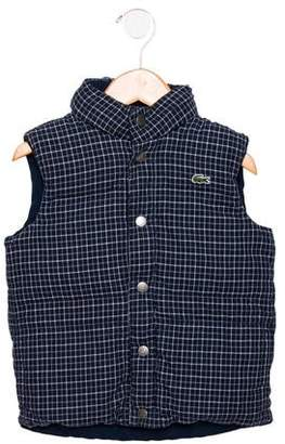 Lacoste Girls' Checked Puffer Vest
