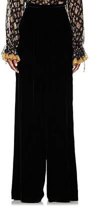 Ulla Johnson Women's Rhett Velvet Wide-Leg Pants - Black