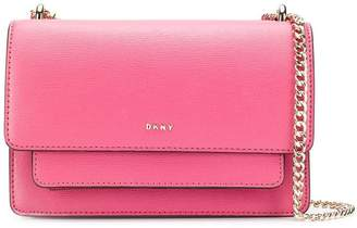 DKNY logo plaque shoulder bag