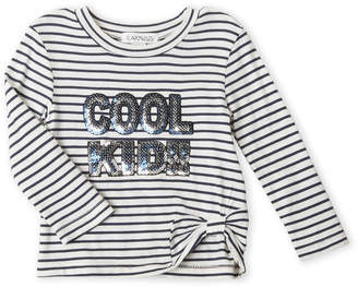 Flapdoodles Infant Girls) Cool Kid Striped Long Sleeve Tee