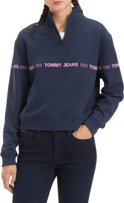 Tommy Jeans TJW Flag Logo Half Zip Pullover