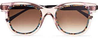 Thierry Lasry Savvvy Cat-eye Printed Acetate And Silver-tone Sunglasses - Pink