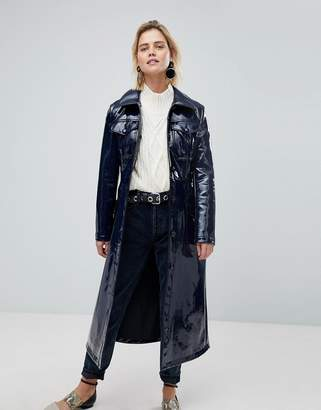 Warehouse Patent Trench Coat