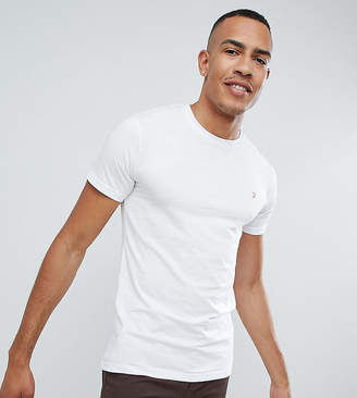 Farah Farris Slim Fit T-Shirt With Stretch In White