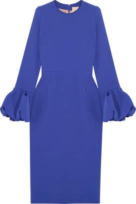 Roksanda Satin-trimmed Crepe Midi Dress - Royal blue