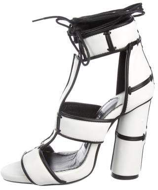 Tom Ford Leather Ankle-Strap Sandals