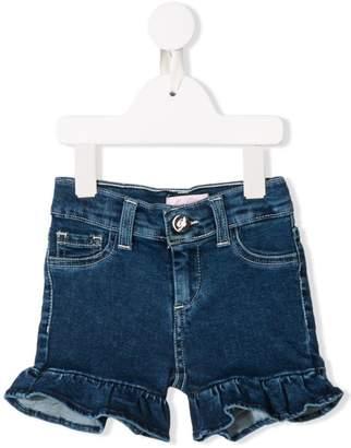 Miss Blumarine ruffled hem denim shorts