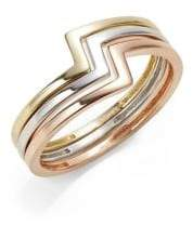 Fine Jewellery Set of Three 10K Gold Stacking Rings