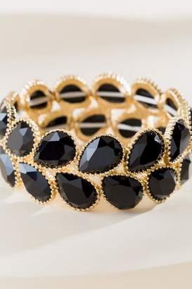 francesca's Rachel Stretch Bracelet - Black