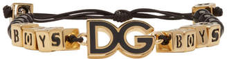 Dolce & Gabbana Black and Gold Boys Bracelet